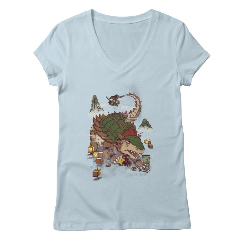 Monster Dogma Women's V-Neck by xiaobaosg