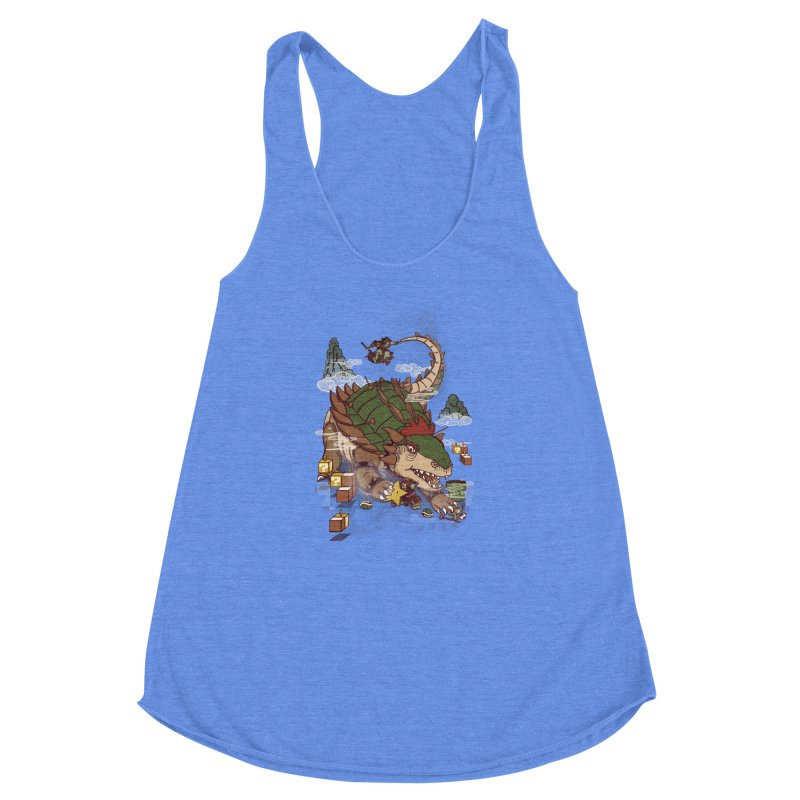 Monster Dogma Women's Racerback Triblend Tank by xiaobaosg