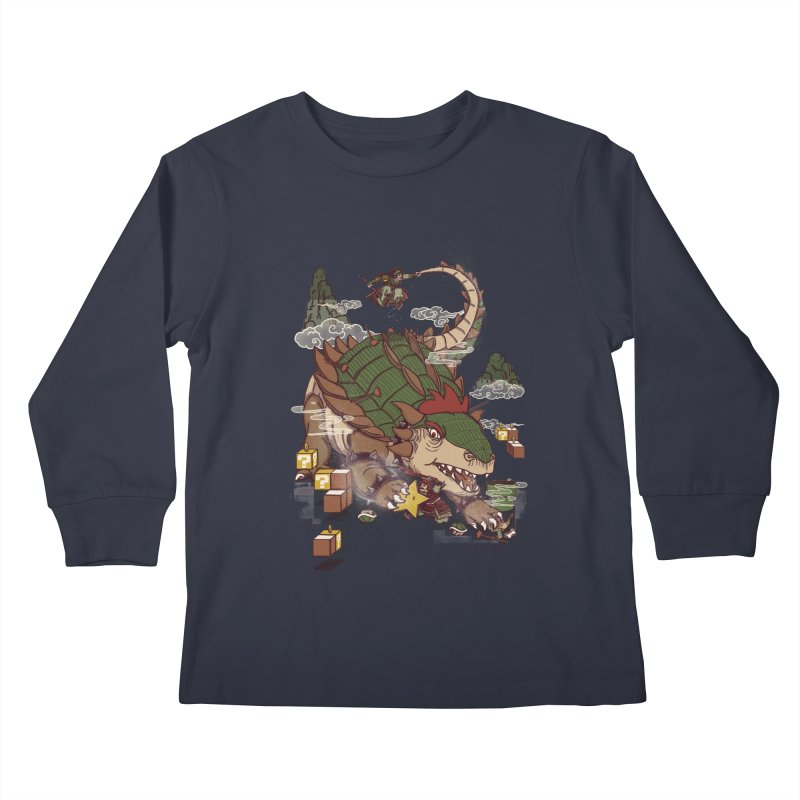 Monster Dogma Kids Longsleeve T-Shirt by xiaobaosg