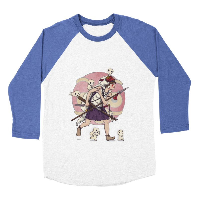 Wolf Girl to the rescue Women's Baseball Triblend T-Shirt by xiaobaosg