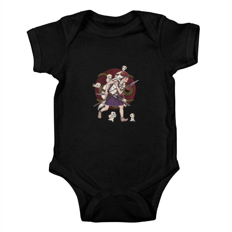 Wolf Girl to the rescue Kids Baby Bodysuit by xiaobaosg