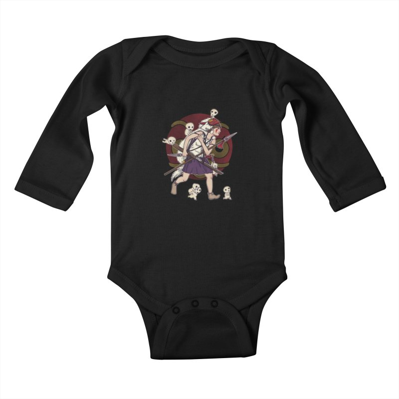 Wolf Girl to the rescue Kids Baby Longsleeve Bodysuit by xiaobaosg