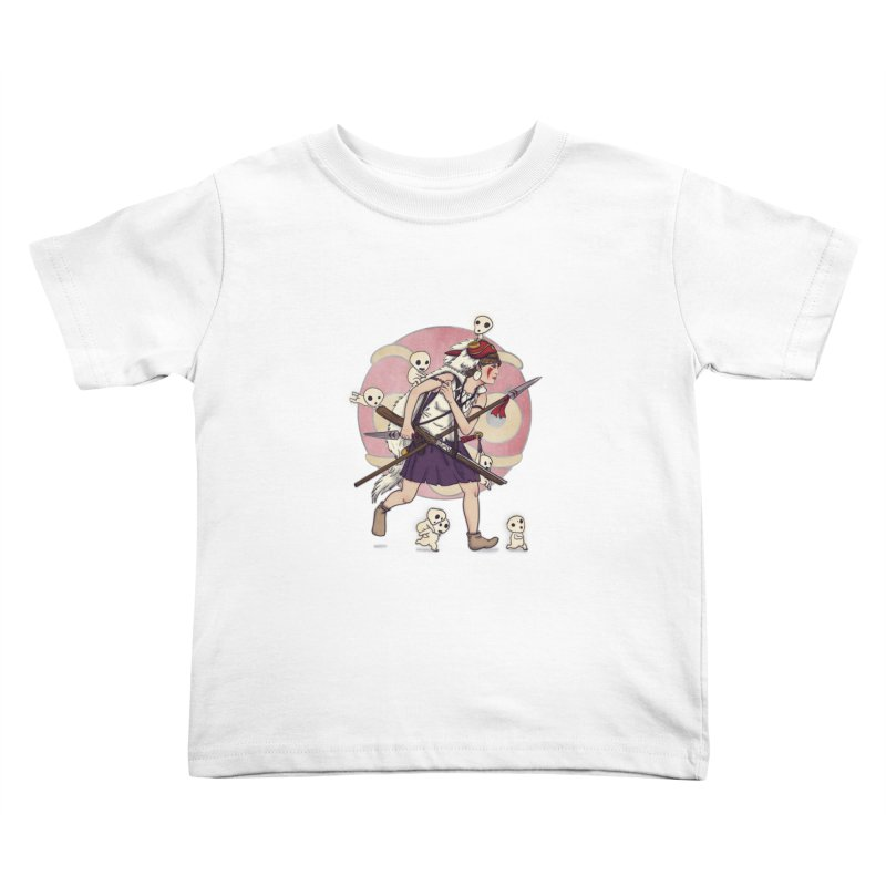 Wolf Girl to the rescue Kids Toddler T-Shirt by xiaobaosg