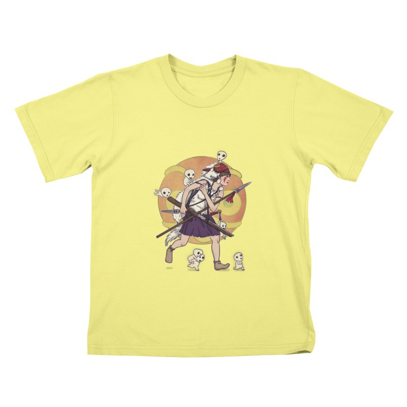 Wolf Girl to the rescue Kids T-shirt by xiaobaosg
