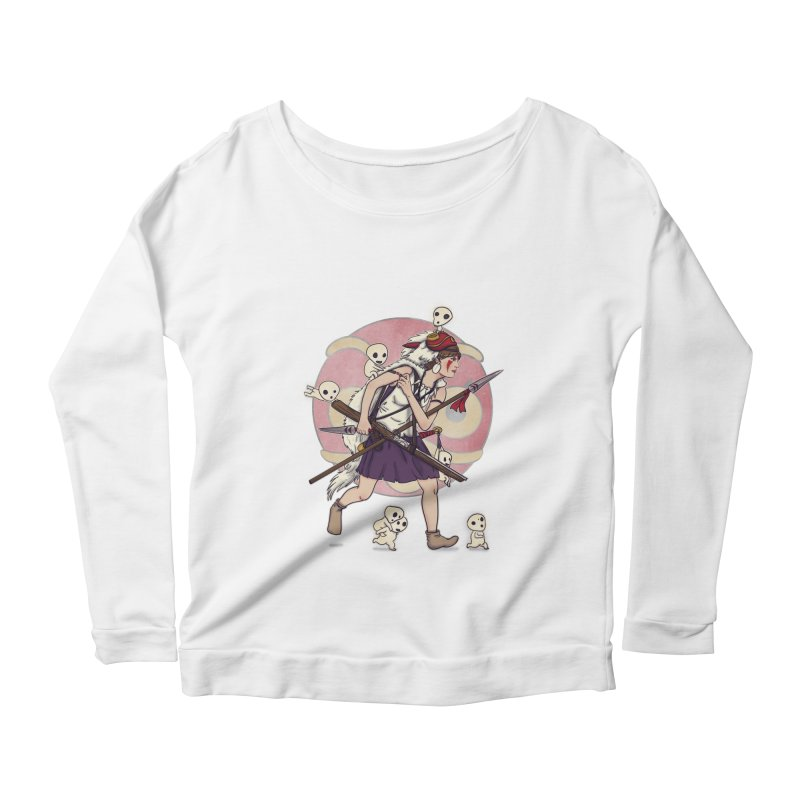 Wolf Girl to the rescue Women's Longsleeve Scoopneck  by xiaobaosg
