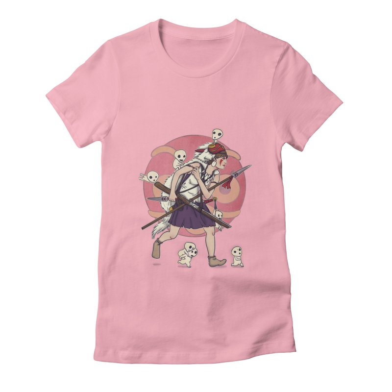 Wolf Girl to the rescue Women's Fitted T-Shirt by xiaobaosg