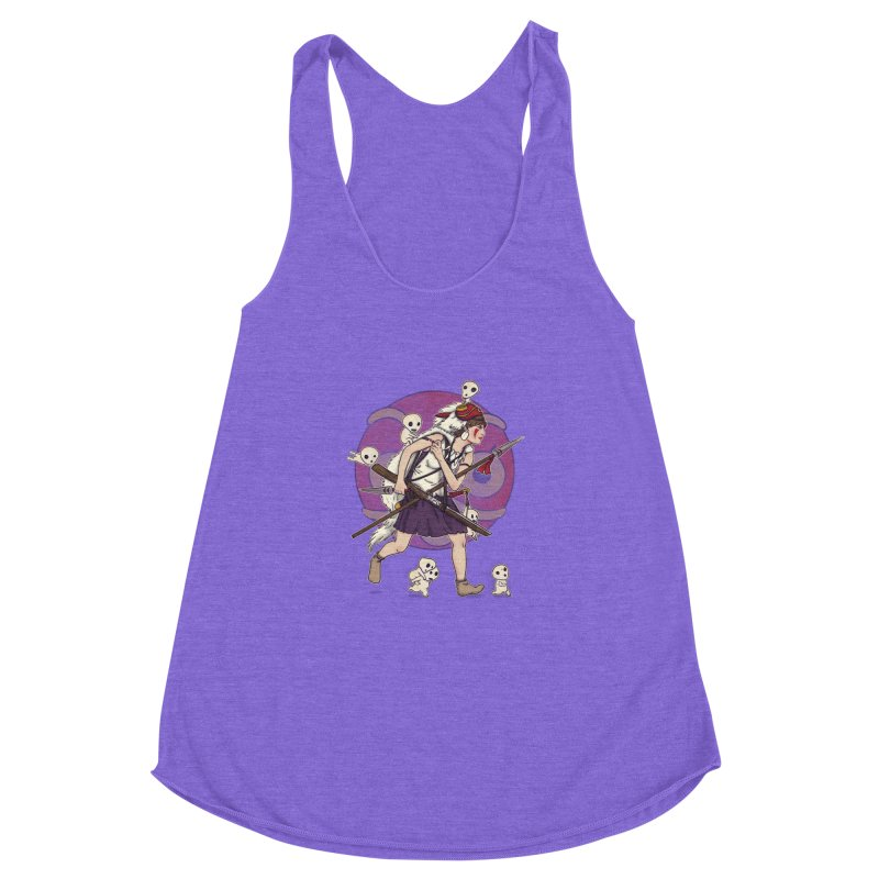 Wolf Girl to the rescue Women's Racerback Triblend Tank by xiaobaosg