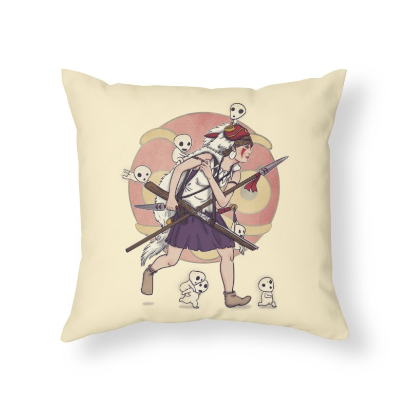 Wolf Girl to the rescue Home Throw Pillow by xiaobaosg