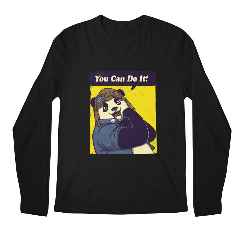 You Can Do It! Men's Longsleeve T-Shirt by xiaobaosg