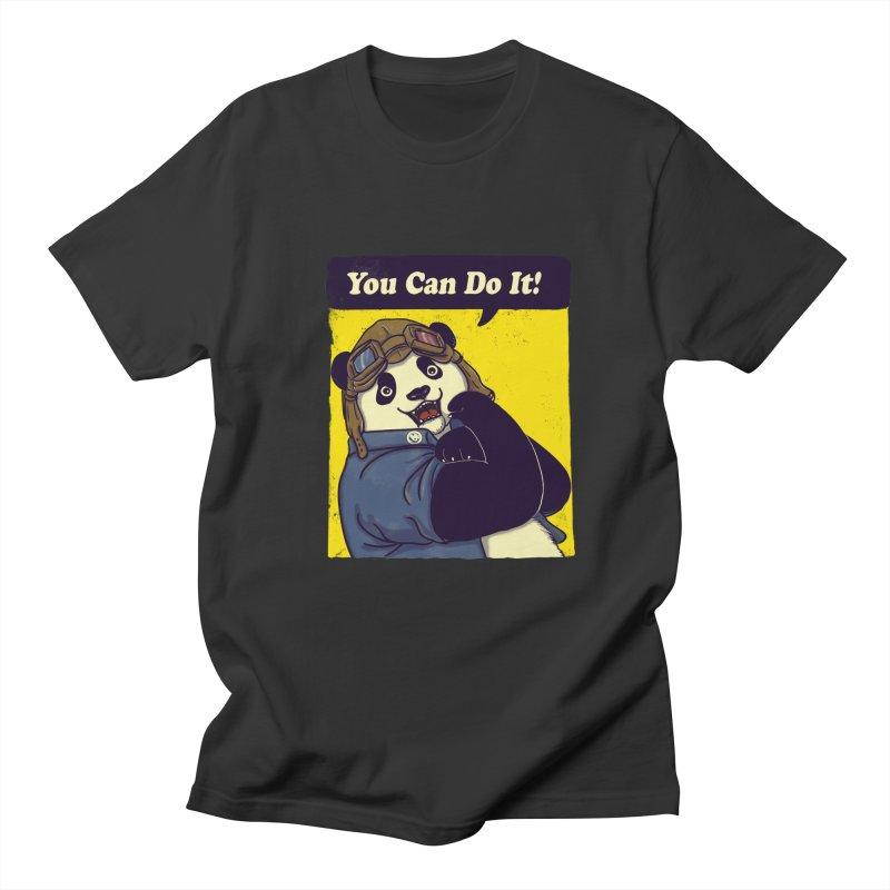 You Can Do It! Men's T-shirt by xiaobaosg