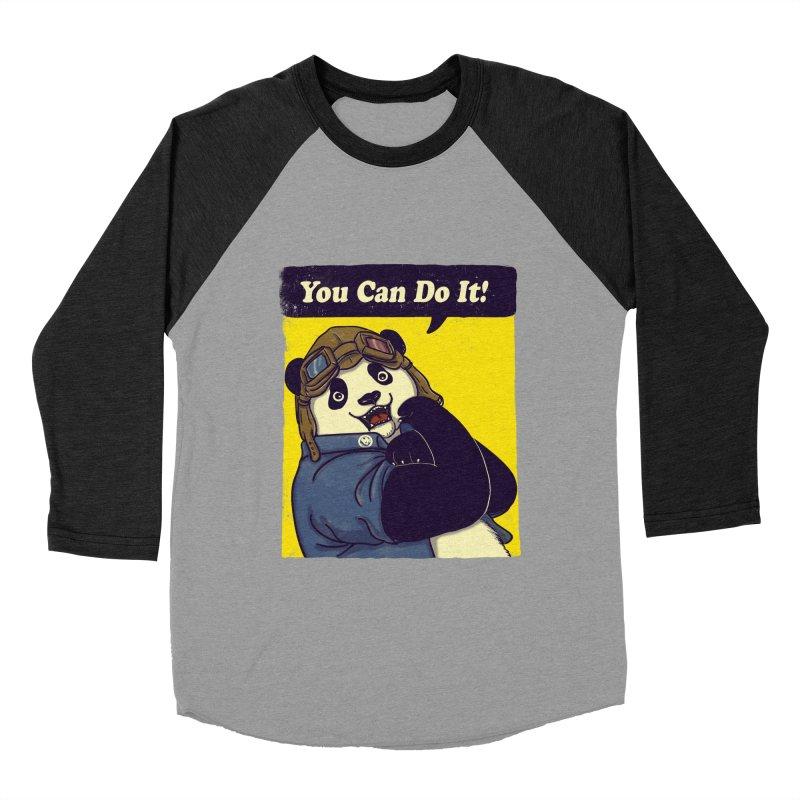 You Can Do It! Women's Baseball Triblend T-Shirt by xiaobaosg