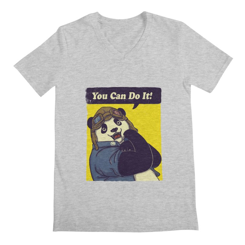 You Can Do It! Men's V-Neck by xiaobaosg
