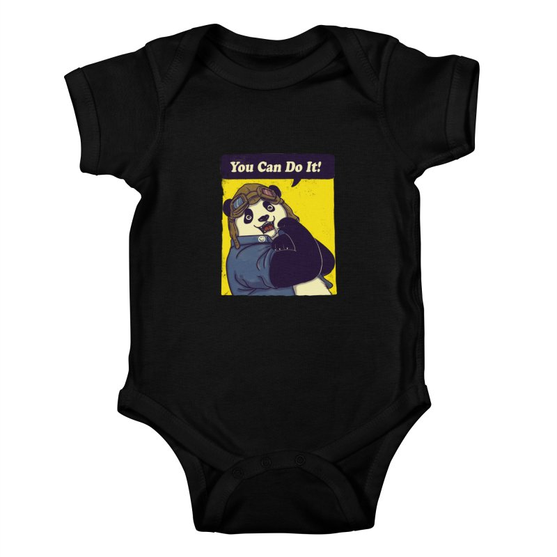 You Can Do It! Kids Baby Bodysuit by xiaobaosg