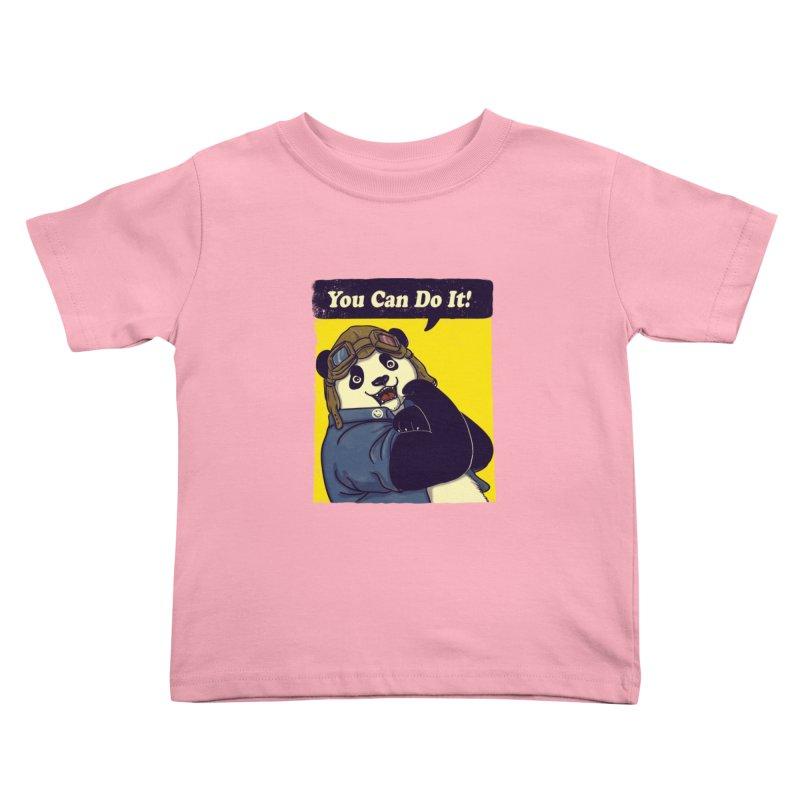You Can Do It! Kids Toddler T-Shirt by xiaobaosg