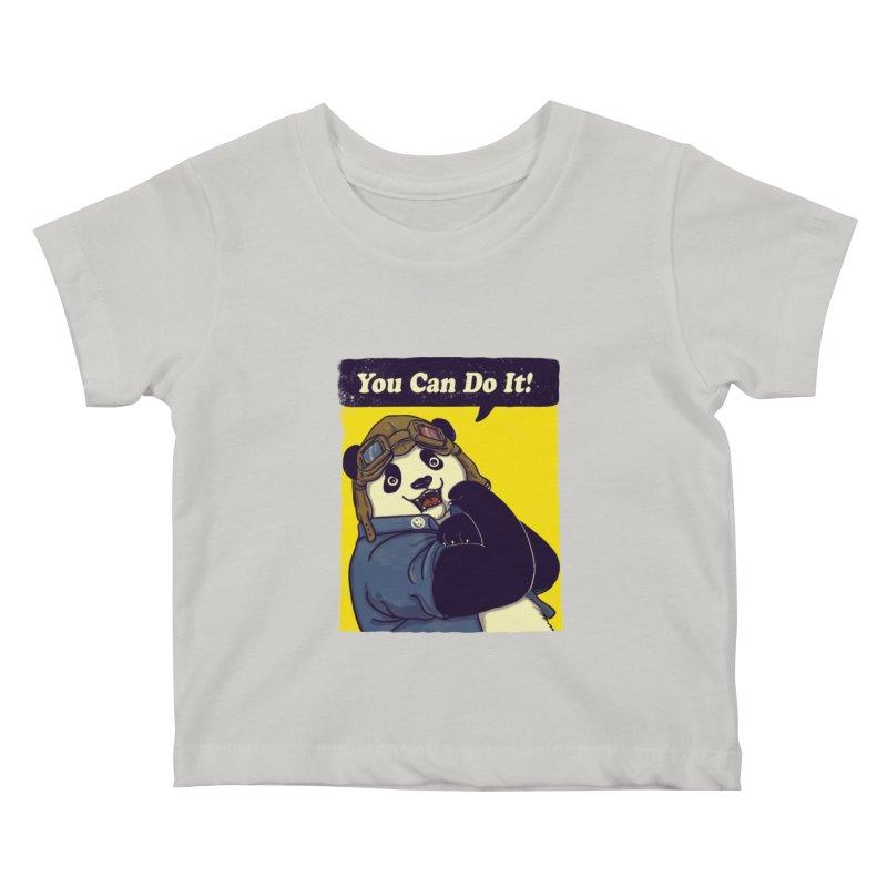 You Can Do It! Kids Baby T-Shirt by xiaobaosg