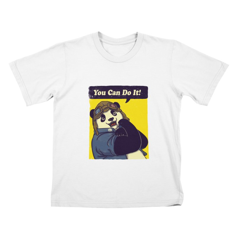 You Can Do It! Kids T-shirt by xiaobaosg