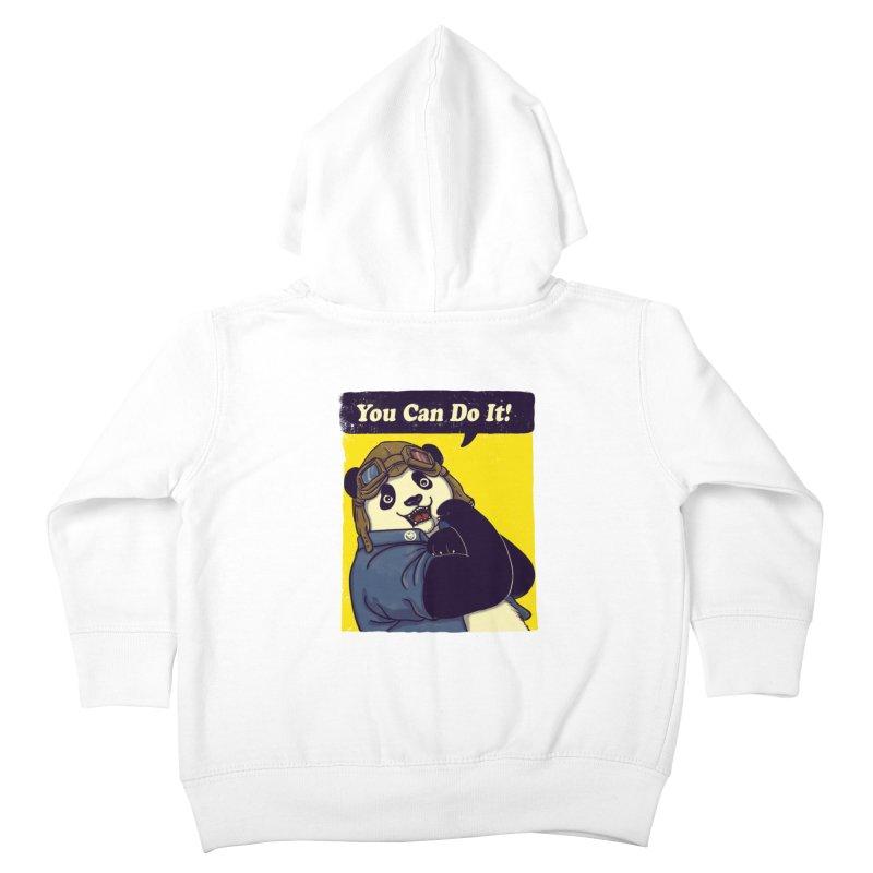 You Can Do It! Kids Toddler Zip-Up Hoody by xiaobaosg