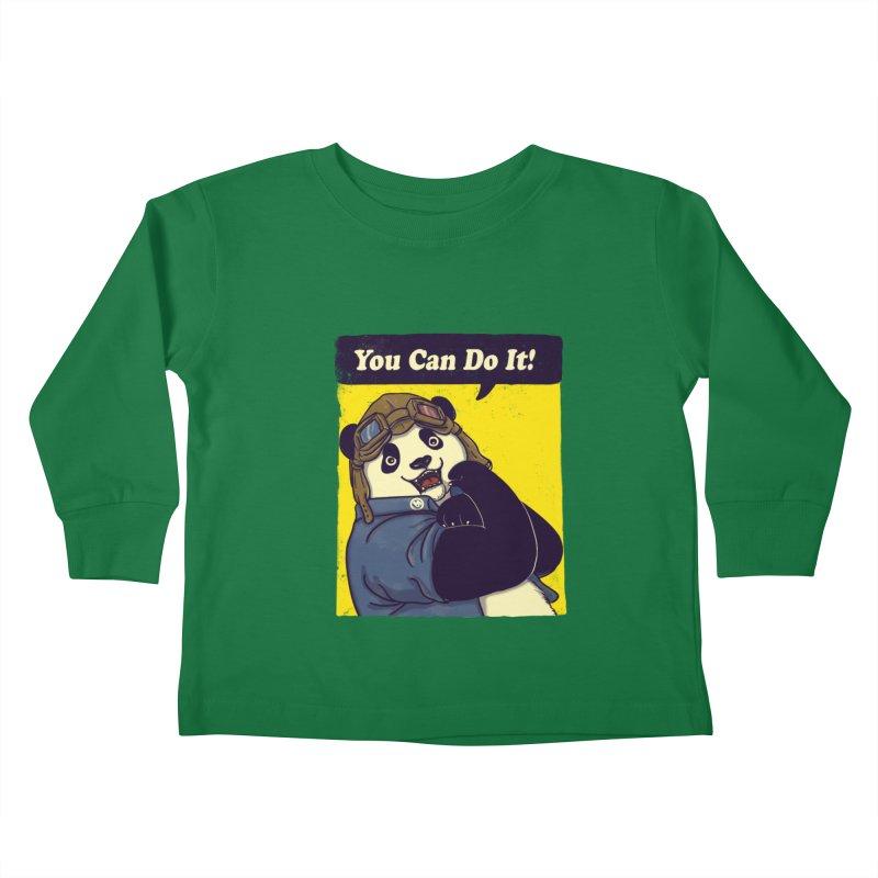 You Can Do It! Kids Toddler Longsleeve T-Shirt by xiaobaosg