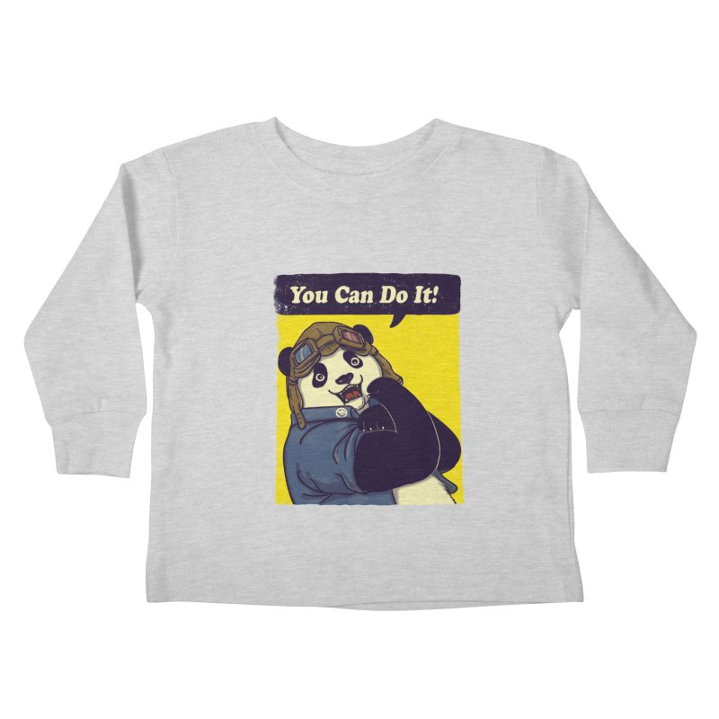 You Can Do It! Kids Toddler Longsleeve T-Shirt by xiaobaosg