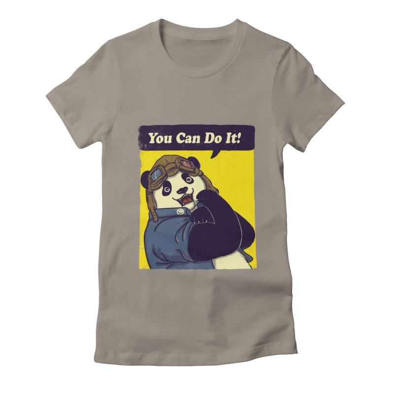 You Can Do It! Women's Fitted T-Shirt by xiaobaosg