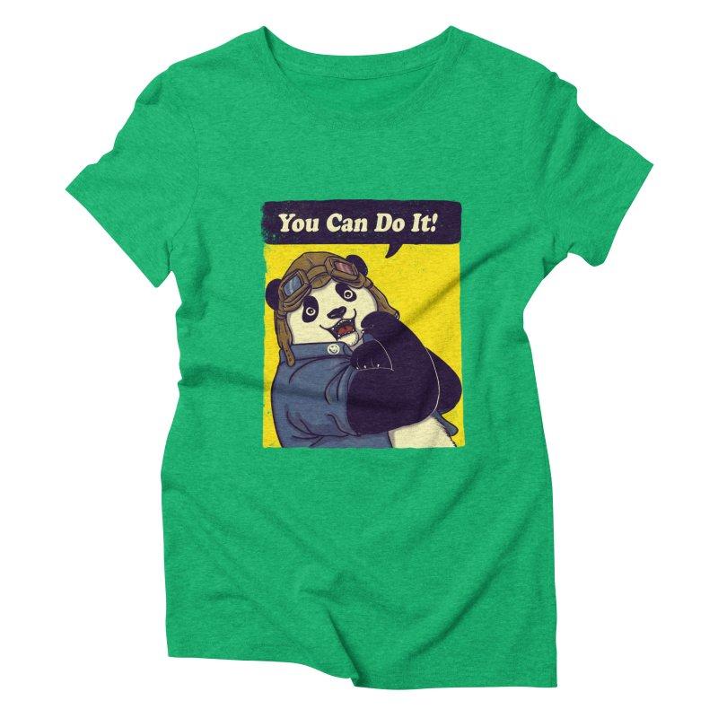 You Can Do It! Women's Triblend T-Shirt by xiaobaosg
