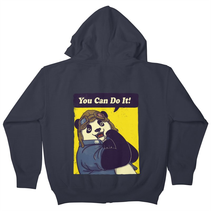 You Can Do It! Kids Zip-Up Hoody by xiaobaosg