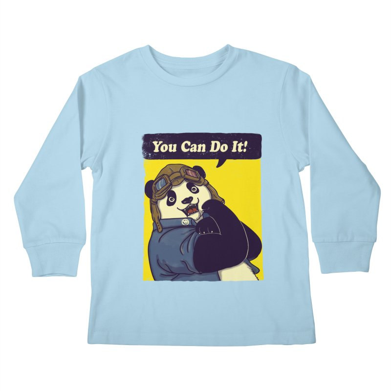 You Can Do It! Kids Longsleeve T-Shirt by xiaobaosg