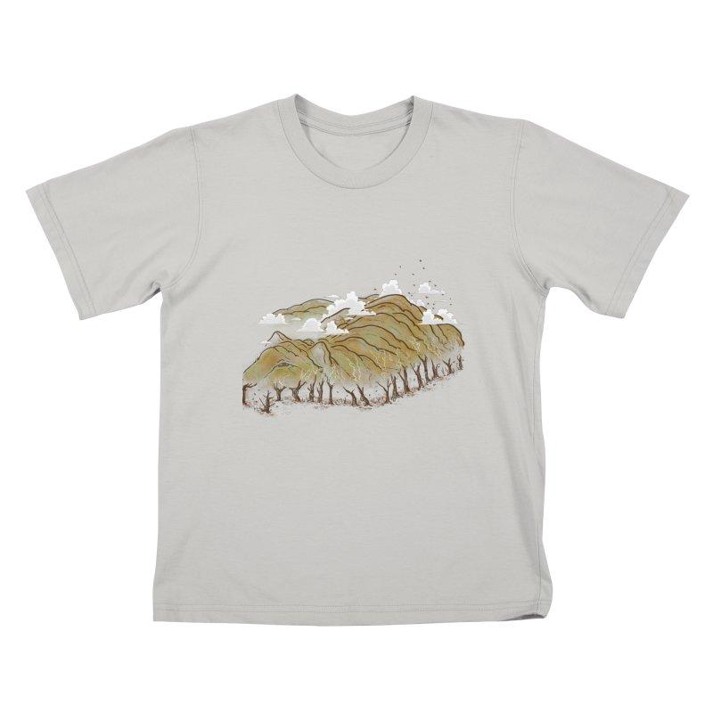 Burning End Kids T-Shirt by xiaobaosg