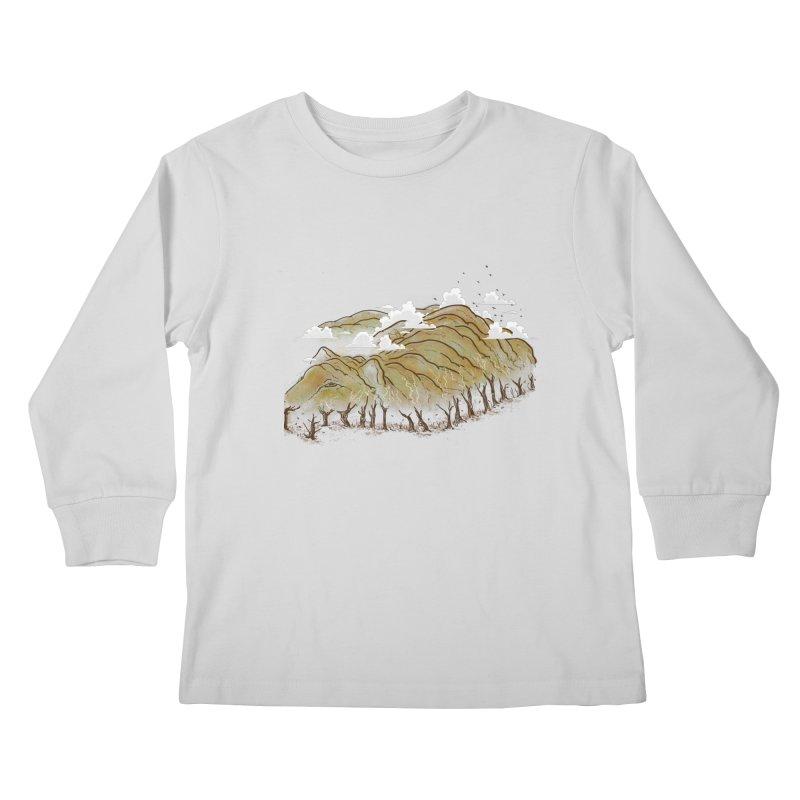 Burning End Kids Longsleeve T-Shirt by xiaobaosg