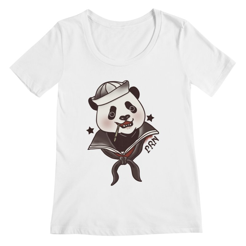 Panda Revolution EXTRA 2 A Women's Scoopneck by xiaobaosg