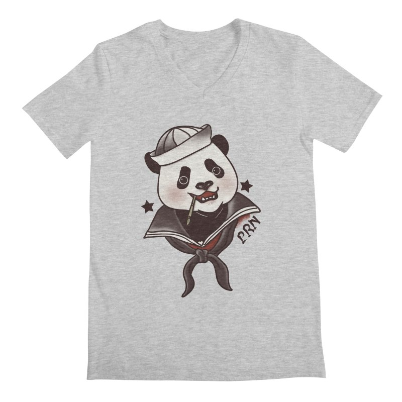 Panda Revolution EXTRA 2 A Men's V-Neck by xiaobaosg