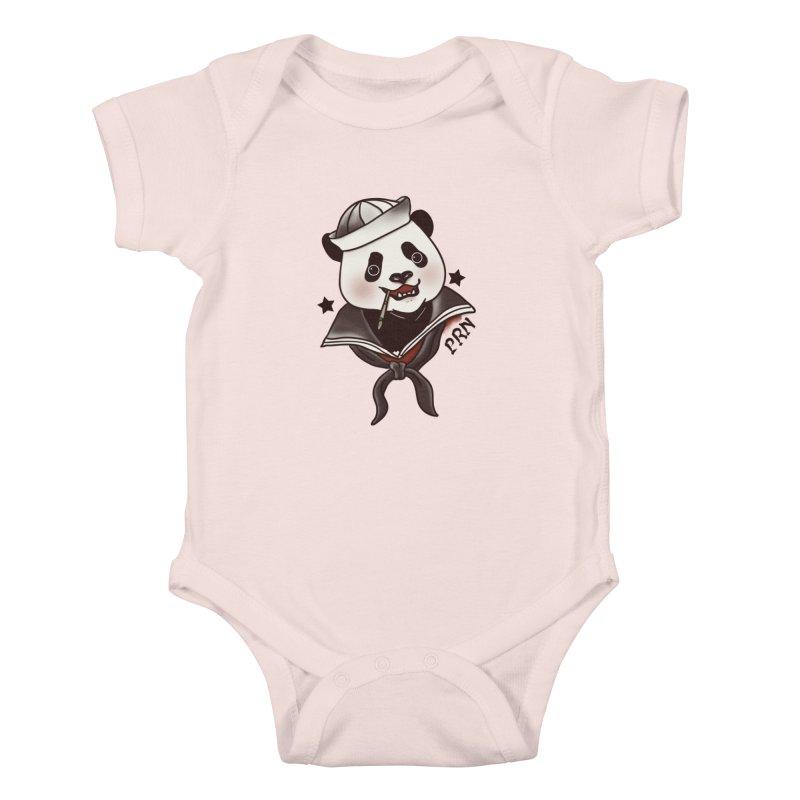 Panda Revolution EXTRA 2 A Kids Baby Bodysuit by xiaobaosg