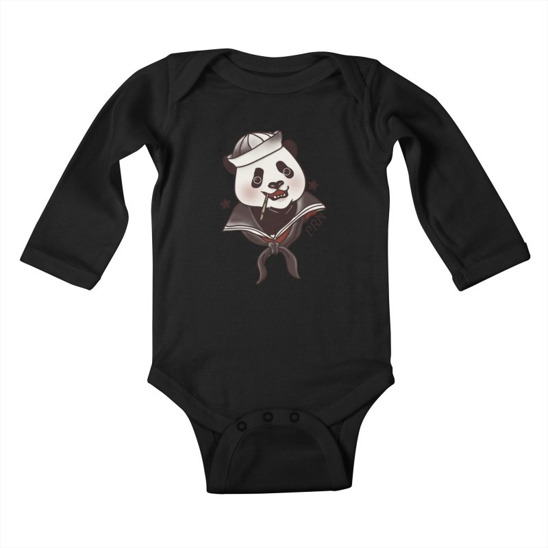 Panda Revolution EXTRA 2 A Kids Baby Longsleeve Bodysuit by xiaobaosg