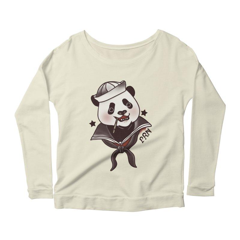 Panda Revolution EXTRA 2 A Women's Longsleeve Scoopneck  by xiaobaosg