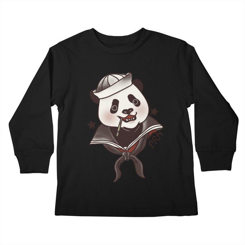 Panda Revolution EXTRA 2 A Kids Longsleeve T-Shirt by xiaobaosg
