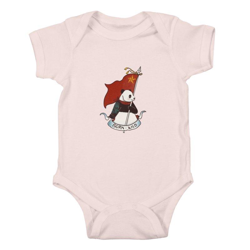 Panda Revolution EXTRA 2 B Kids Baby Bodysuit by xiaobaosg