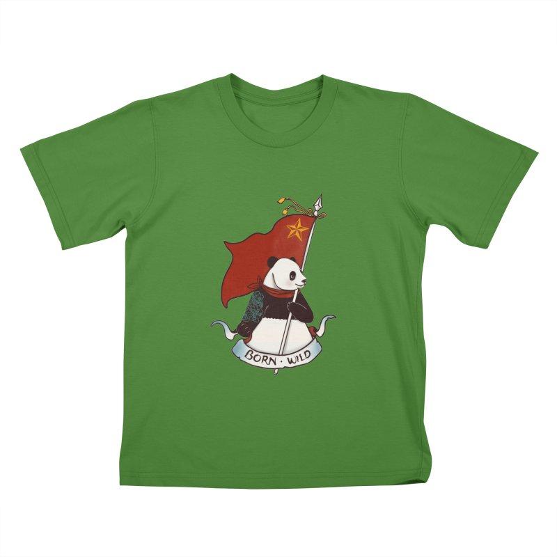 Panda Revolution EXTRA 2 B Kids T-Shirt by xiaobaosg