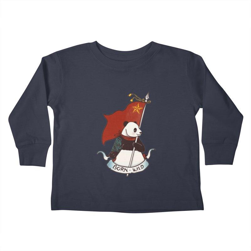 Panda Revolution EXTRA 2 B Kids Toddler Longsleeve T-Shirt by xiaobaosg