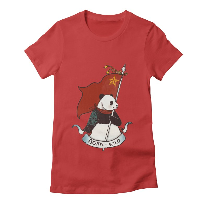 Panda Revolution EXTRA 2 B Women's Fitted T-Shirt by xiaobaosg