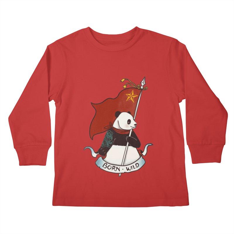 Panda Revolution EXTRA 2 B Kids Longsleeve T-Shirt by xiaobaosg