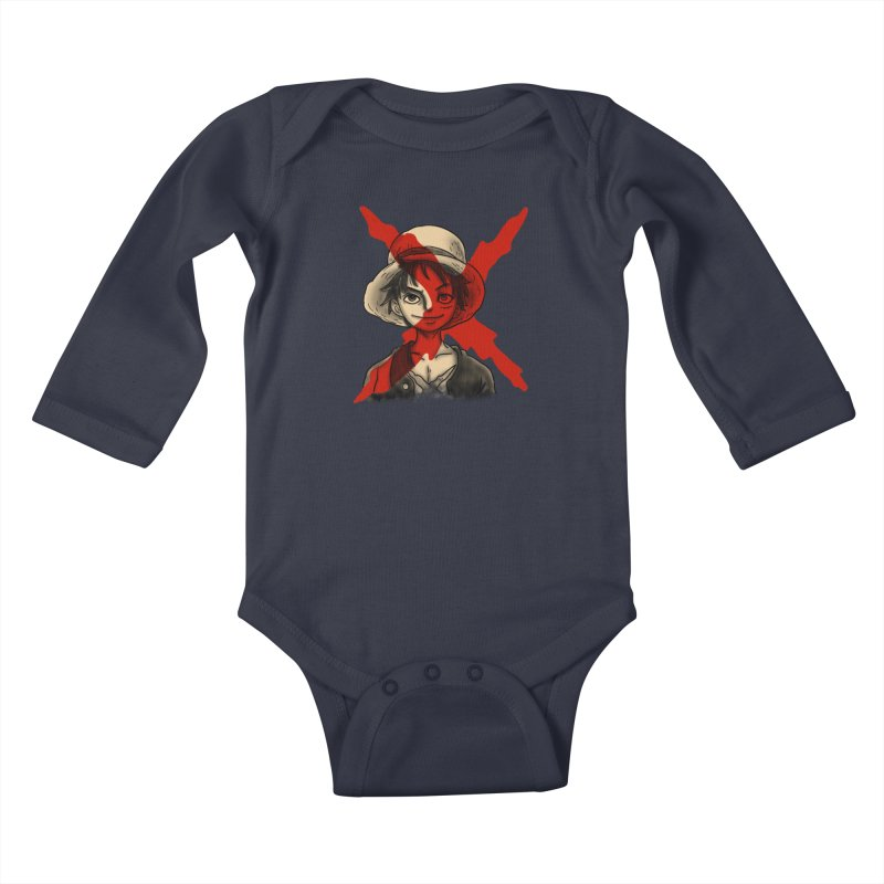 One Piece of Future Past Kids Baby Longsleeve Bodysuit by xiaobaosg