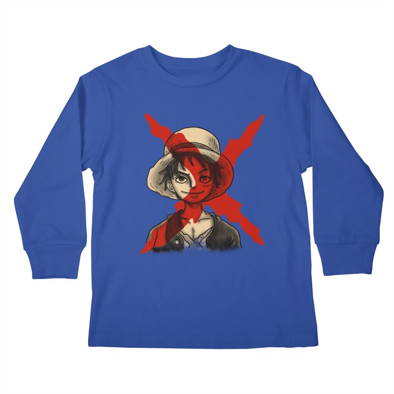 One Piece of Future Past Kids Longsleeve T-Shirt by xiaobaosg