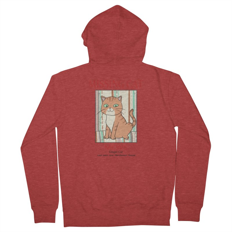 Mrs Henderson's Cat V2 Men's French Terry Zip-Up Hoody by xiaobaosg