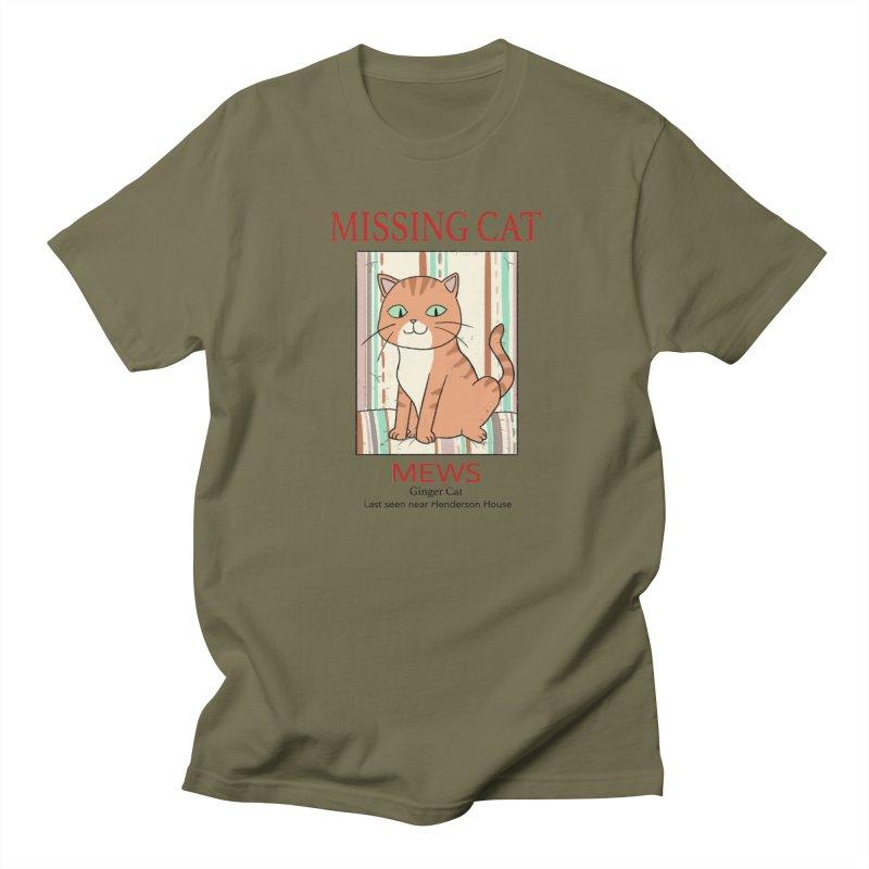 Mrs Henderson's Cat V2 Men's Regular T-Shirt by xiaobaosg