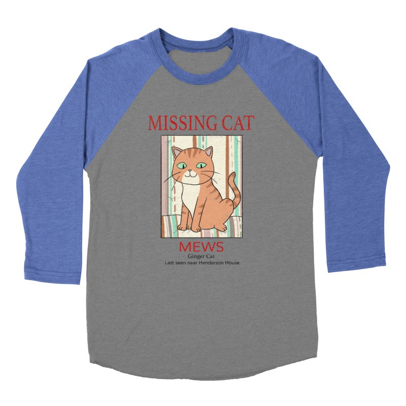 Mrs Henderson's Cat V2 Men's Baseball Triblend T-Shirt by xiaobaosg