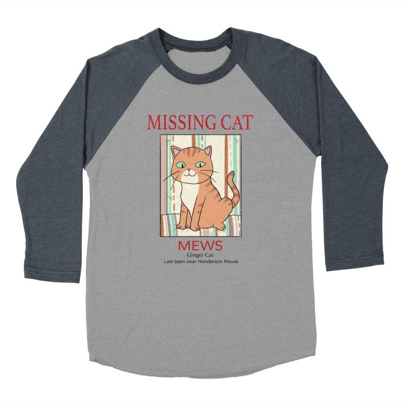 Mrs Henderson's Cat V2 Men's Baseball Triblend Longsleeve T-Shirt by xiaobaosg
