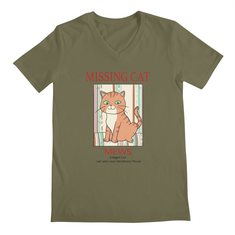 Mrs Henderson's Cat V2 Men's Regular V-Neck by xiaobaosg