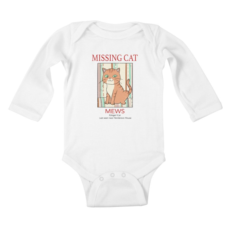 Mrs Henderson's Cat V2 Kids Baby Longsleeve Bodysuit by xiaobaosg