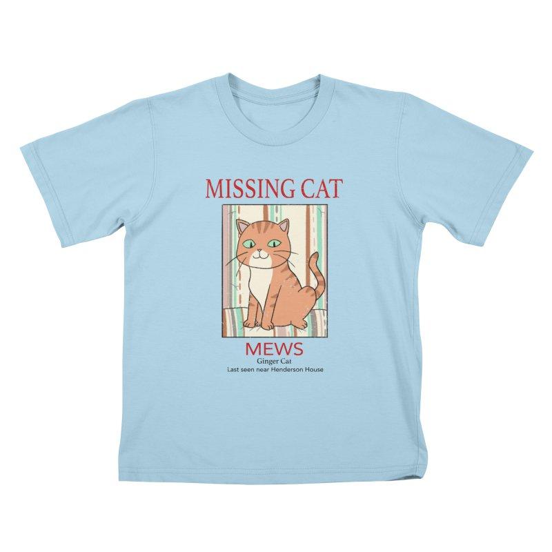 Mrs Henderson's Cat V2 Kids T-Shirt by xiaobaosg