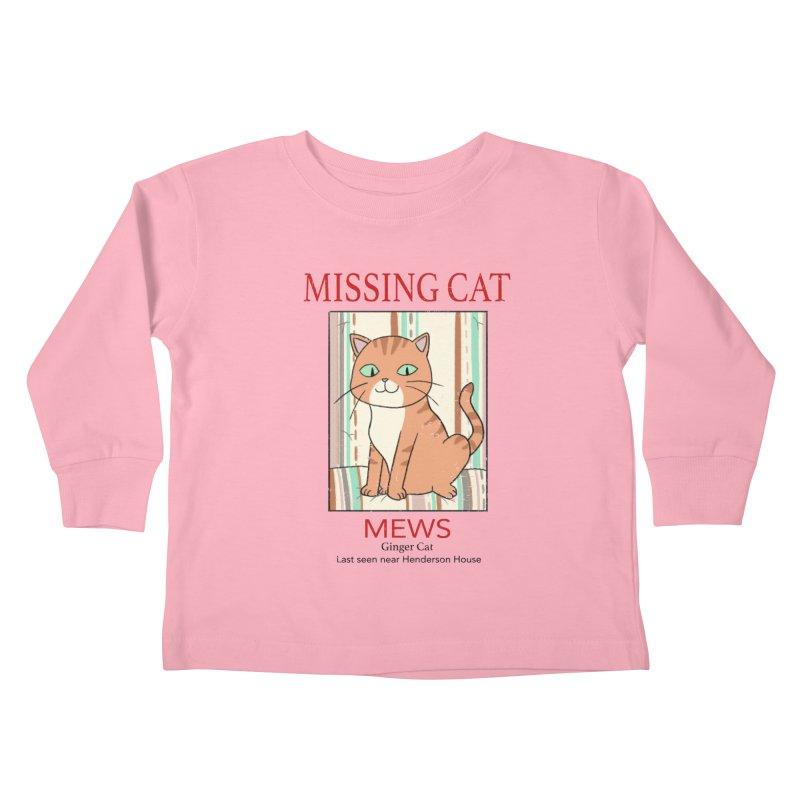 Mrs Henderson's Cat V2 Kids Toddler Longsleeve T-Shirt by xiaobaosg